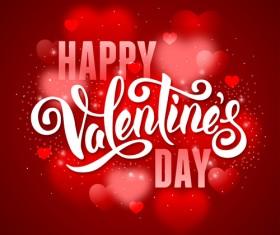 Valentine red background art vector 02