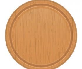 Wooden cutting board vector design set 01