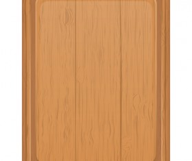 Wooden cutting board vector design set 02
