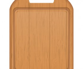 Wooden cutting board vector design set 03