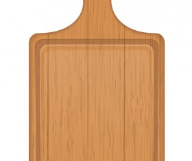 Wooden cutting board vector design set 04