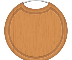 Wooden cutting board vector design set 08