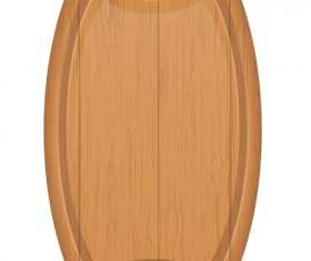 Wooden cutting board vector design set 09
