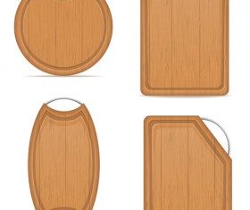 Wooden cutting board vector design set 10