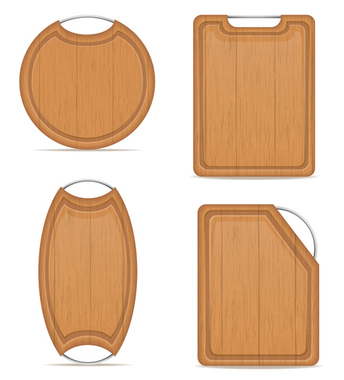 Wooden cutting board vector design set 10 vector other for Cutting board designs