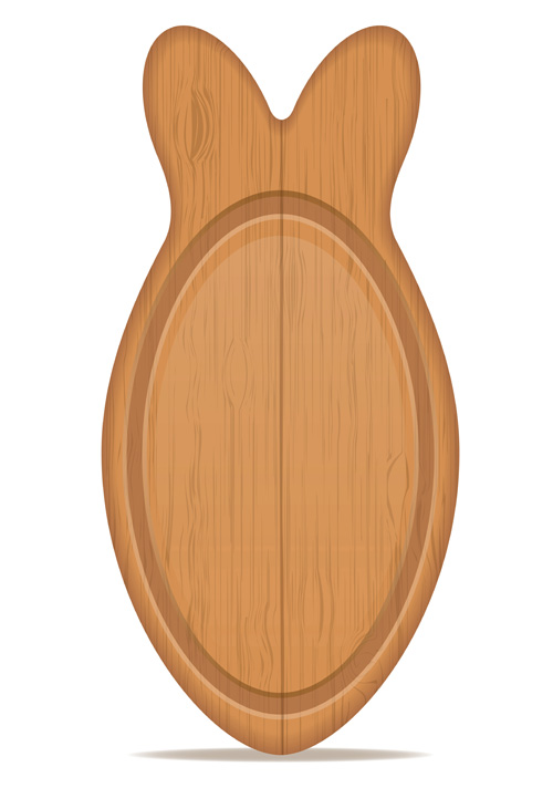 Wooden cutting board vector design set 11
