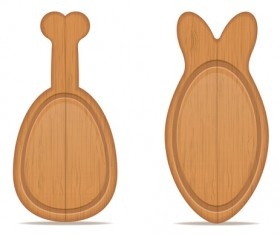 Wooden cutting board vector design set 13