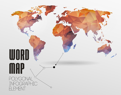 world map with infographics creative vector 04 free download