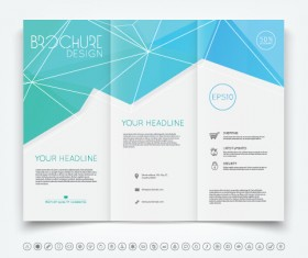 Brochure tri-fold cover template vectors design 01