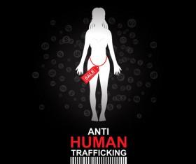 Anti human trafficking public service advertising templates vector 01