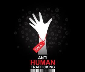 Anti human trafficking public service advertising templates vector 04
