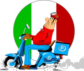 Best pizza delivery cartoon styles vector 02