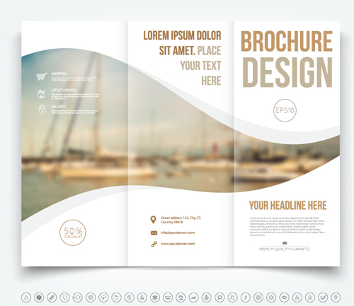 Brochure Tri Fold Cover Template Vectors Design 03 Free Download
