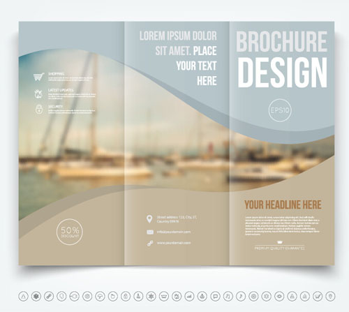 Brochure Trifold Cover Template Vectors Design Vector Cover - Free tri fold brochure design templates