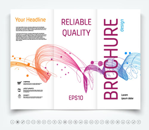 Brochure Trifold Cover Template Vectors Design Vector Cover - Free templates for brochures tri fold
