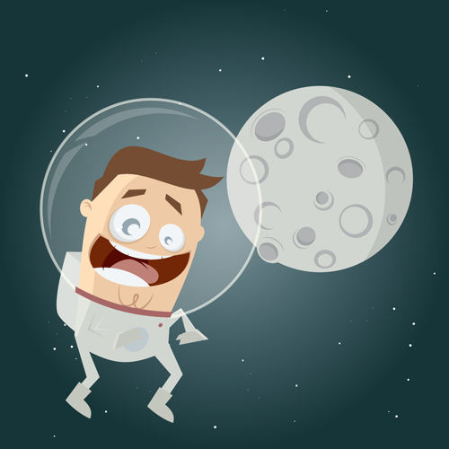 cartoon astronaut in outer space - photo #8