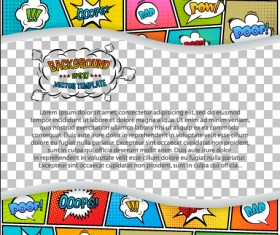 Cartoon speech bubbles with background template vector 20