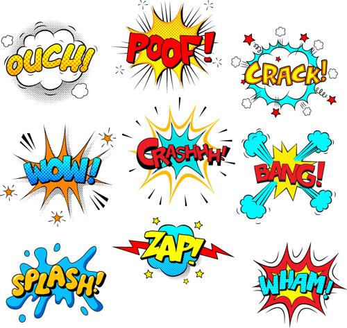 Cartoon text boxs vector material 01 - Vector Cartoon free download