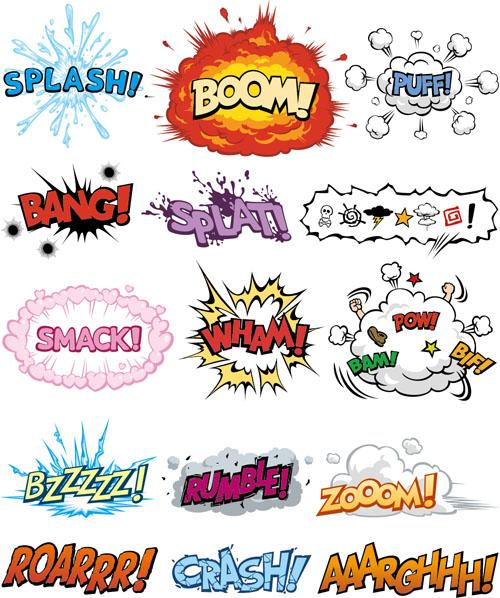 Cartoon text boxs vector material 03 - Vector Cartoon free download