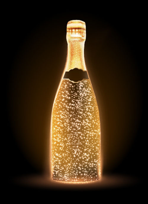 champagne bottle vector material 04 free download