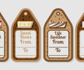 Cheesecake tags vector material