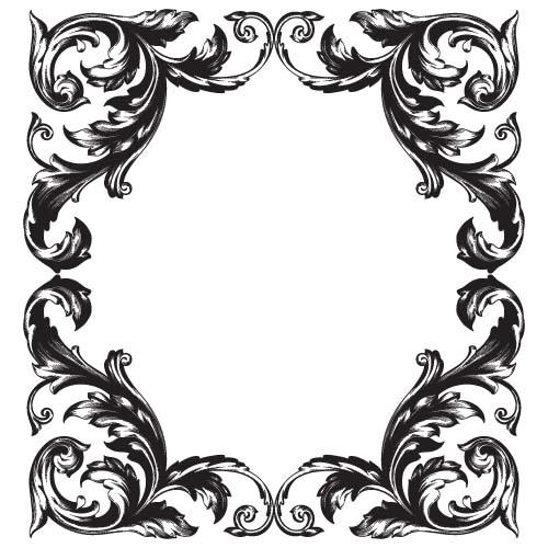 classical baroque style frame vector design 01