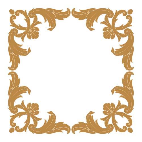 classical baroque style frame vector design 02
