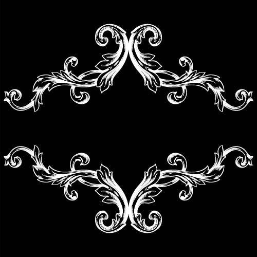 classical baroque style frame vector design 12