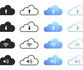 Cloud computing creative icons vector 01