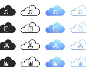 Cloud computing creative icons vector 02