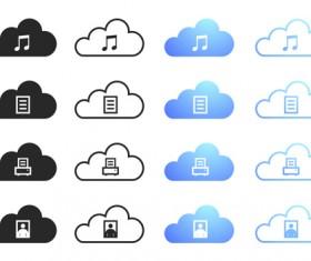 Cloud computing creative icons vector 02