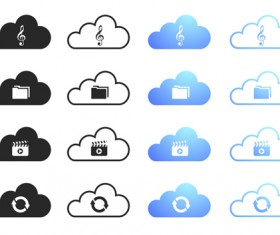 Cloud computing creative icons vector 03