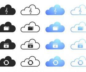 Cloud computing creative icons vector 03
