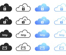 Cloud computing creative icons vector 04