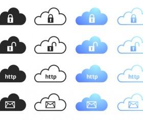 Cloud computing creative icons vector 04