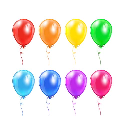 colored balloons template vector material 01 free download