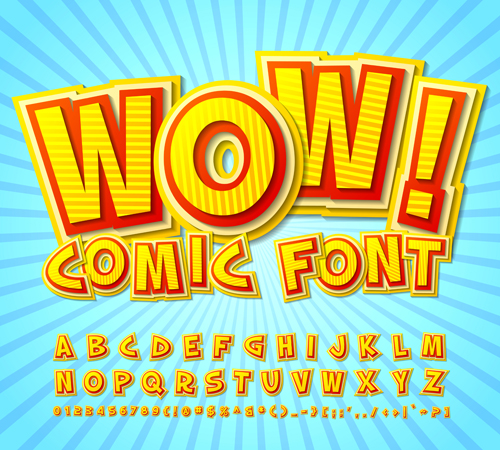Comic Styles Fonts Design Set 09