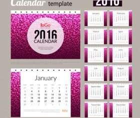 Creative Calendar 2016 template vector 02