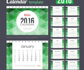 Creative Calendar 2016 template vector 04