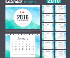 Creative Calendar 2016 template vector 05