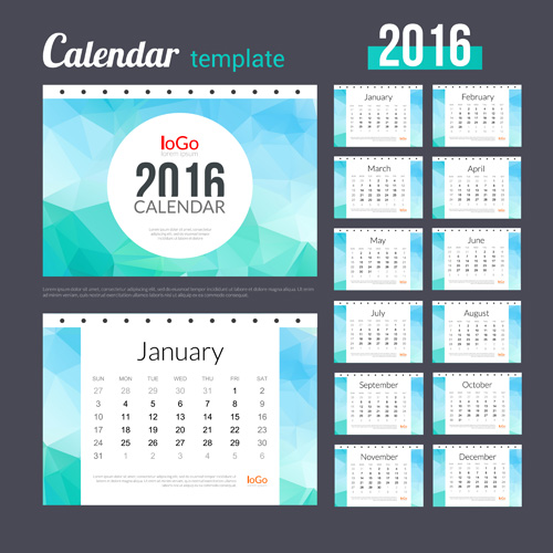 Creative Calendar Template : Creative calendar template vector