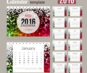 Creative Calendar 2016 template vector 06