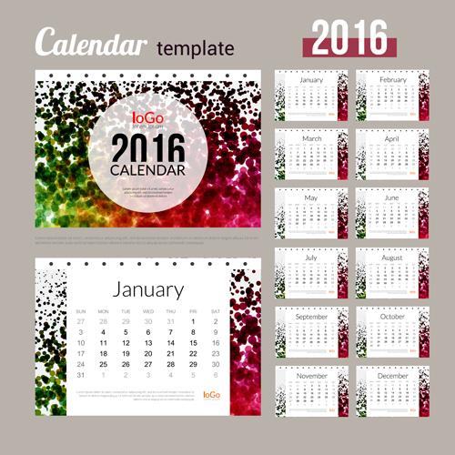 Creative Calendar 2016 Template Vector 06
