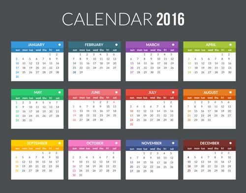 Calendar Templates Creative : Creative calendar template vector