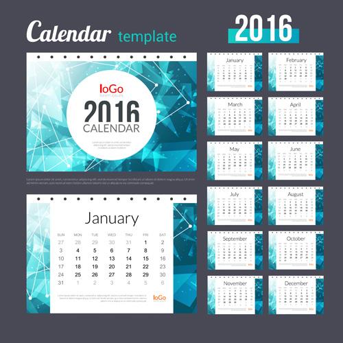 Creative Calendar 2016 Template Vector 08