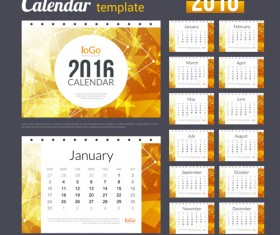 Creative Calendar 2016 template vector 09