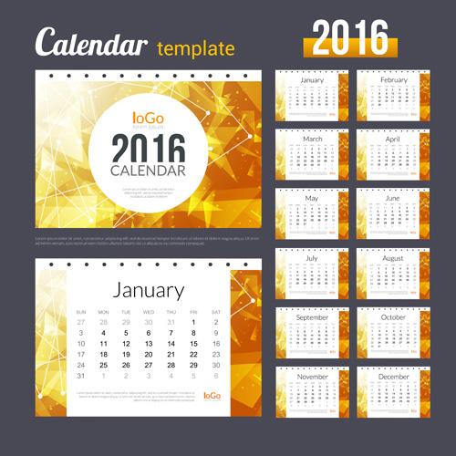 Creative Calendar Layout : Creative calendar template vector
