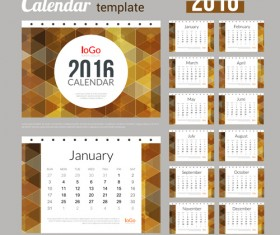 Creative Calendar 2016 template vector 10