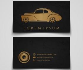 Creative car business cards vector 01