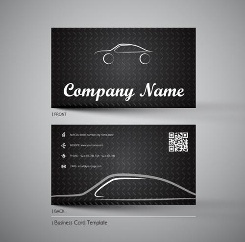 Creative Car Business Cards Vector 02